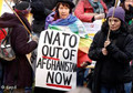 Protesters at Afghanistan conference demand faster troop withdrawal