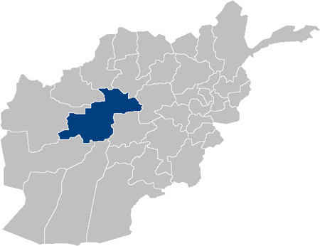 Ghor province on Afghanistan map
