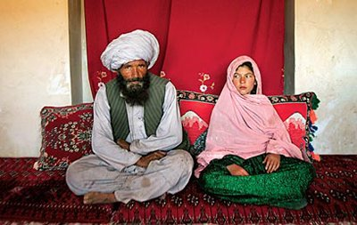 A 40-year old groom with an 11-year old bride in Afghanistan