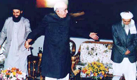 Hekmatyar and Rabbani with former president Ghulam Ishaq Khan