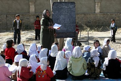 Girls in Rukhsana School in Kabul