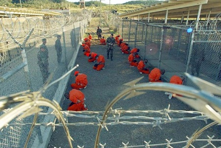 Guantanamo Bay prison camp in Cuba