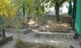 Graves of victims of Taliban brutality in 1999