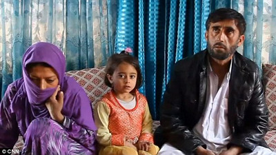 Afghan rape victim Gulnaz with rapist husband and daughter