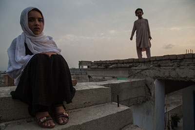 Hadia Mustaghn, 8, witnessed a house raid that left three of her uncles dead