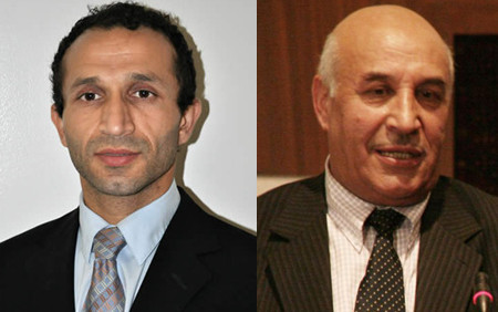 The puncher, Haroon Aloko (left), is the son of Afghanistan's attorney general Mohammed Ishaq Alako
