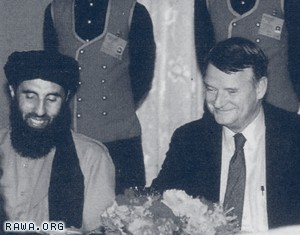 Richard J. Kerr, the  Deputy Director of CIA with Gulbuddin Hekmatyar