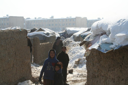 IDPs camps in Kabul where more than twenty children died of cold.