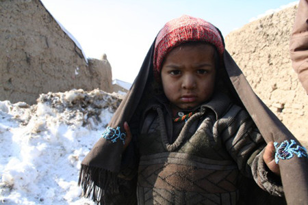 IDPs camps in Kabul where more than twenty children died of cold
