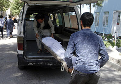 Bus hit by roadside bomb in Afghanistan, 32 killed including children