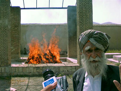 Hindus' cremation ceremony
