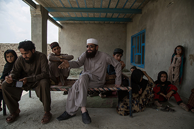 Mohammed Zaman and his family now live at a rental house in Khost city after his house was blown up by the KPF