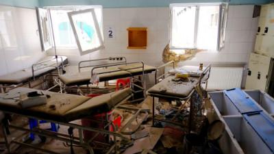 A devastated hospital in Afghanistan