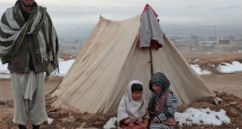 IDP children in cold in Afghanistan