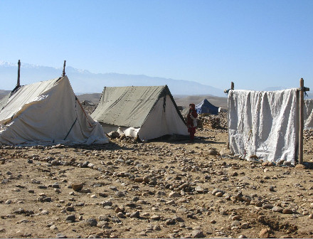 IDPs settled in desert