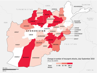 Increase of taliban influence in north afghanistan