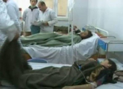 A hospital at Mazar-e-Sharif where the wounded are being treated