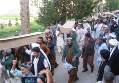 Afghans protest killing by Iranian forces