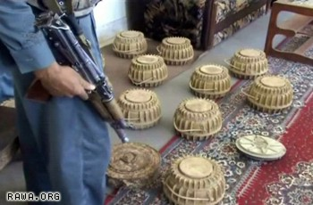 Iranian made mines discovered in Afghanistan
