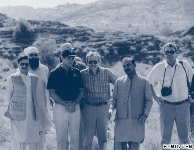 CIA and ISI directors in the Mujahideen training camp in Pakistan, 1987