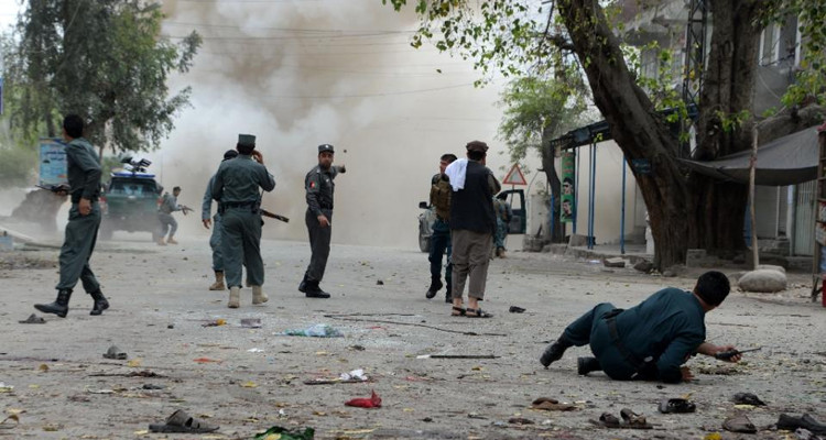The blast hit a commercial area where hundreds were present in Jalalabad, eastern Afghanistan