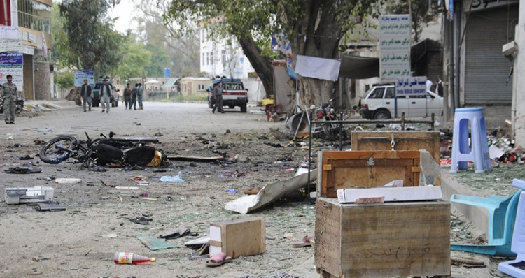 A blast in Jalalabad, eastern Afghanistan that killed more than 33 and injured more than 100