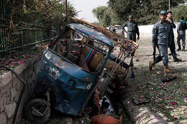 Bomb blast in  Jalalabad, Afghanistan