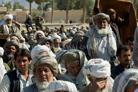 Example of jirga of tribal eldedrs