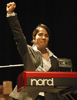 Malalai Joya in UCLA during her US tour