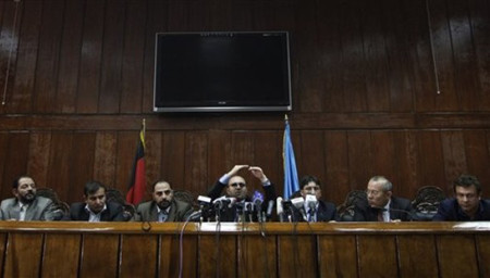 Kabul Bank Gov. in a press conference
