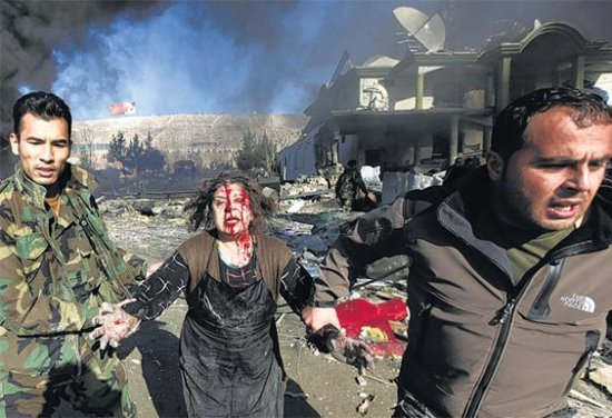 A woman victim of suicide attack in Kabul