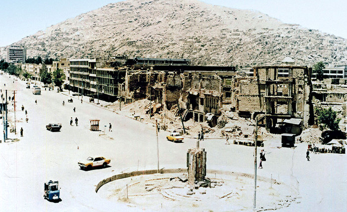Much of the civil infrastructure was ruined in Kabul due to the war