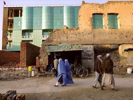 High rise buildings in poor Kabul