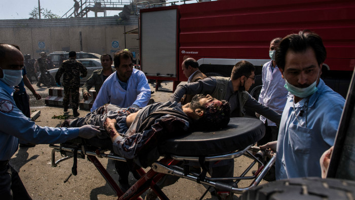 A huge explosion in diplomatic area of Kabul on May 31, 2017 killed more than 80 and injured more than 400 people and caused extensive damage in the area