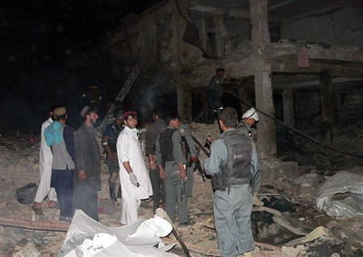 Debris of the blast
