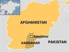 Kandahar on map