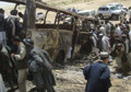 Fiery bus crash blamed on Taliban insurgents kills 45 in Afghanistan