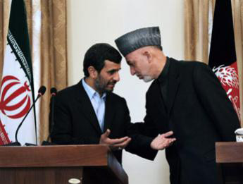 Karzai and Ahmadi Nejad