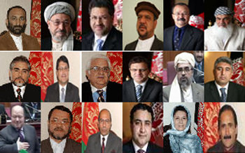 Karzai's cabinet members of warlords and US stooges