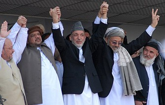 Karzai join hand with warlords