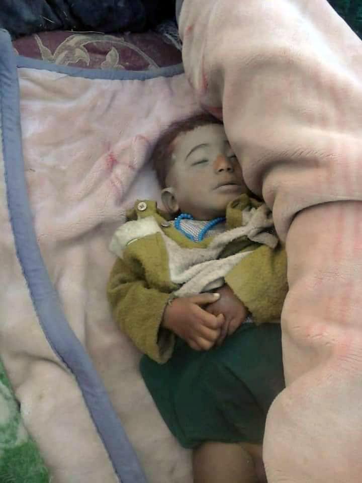 kid killed with 17 others in Nimruz air raid