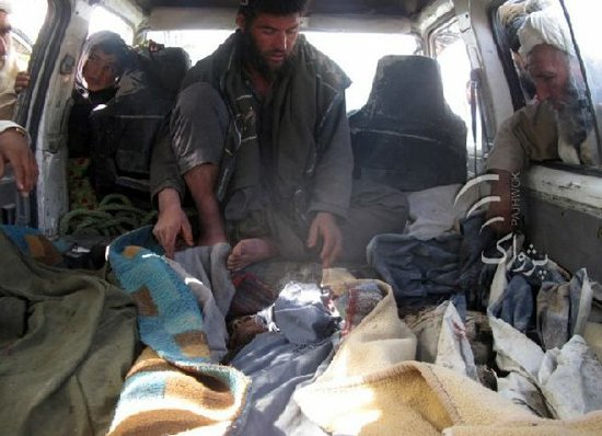 The two civilians of a vehicle killed by foreign troops