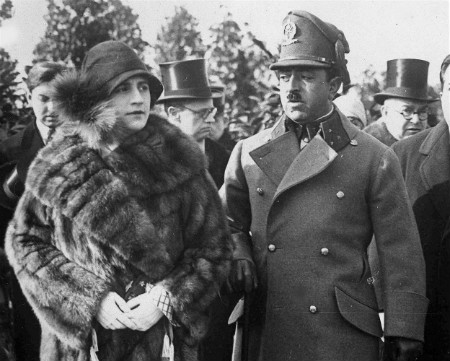 Queen Soraya and King Amanullah Khan of Afghanistan walk in Berlin during an official visit to Germany, Feb. 24, 1928
