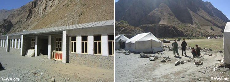 The incomplete building of Paay Mazar Koofab school