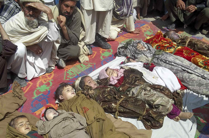 NATO has not confirmed any civilian casualties, many of them children, resulting from its latest air strike