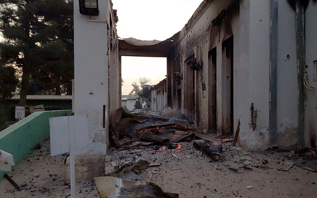 Kunduz MSF hospital bombed by NATO