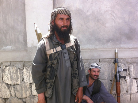 A member of a militia led by Mohammad Omar is pictured on April 2015 in Kunduz in Afghanistan