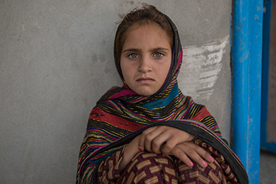 Mariam Zaman, 8, witnessed her house being blown up in the Sabari district
