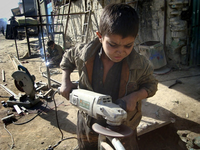 Mohammad Gul a child worker in Khost