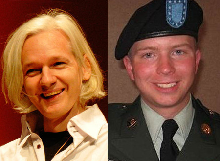 Julian Assange and Bradley Manning